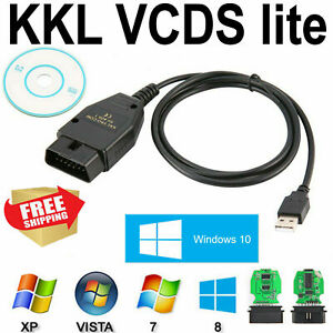 Usb Cable Vag Com 409 1 Auto Scanner Scan Cd Drive Tool For Audi Vw Seat Black