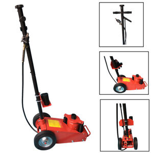 Heavy Duty 22 Ton Air Hydraulic Floor Jack Wheels Lift Truck Shop Equipment Red