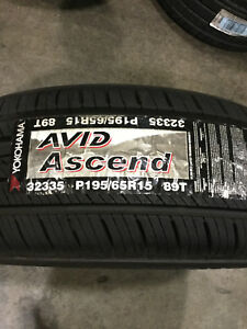 1 New 195 65 15 Yokohama Avid Ascend Tire
