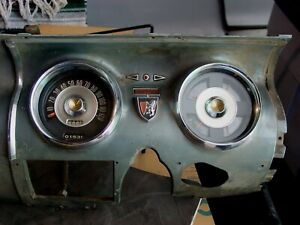 1955 1956 Chrysler Dodge Dash Board Gauges Emblem Low Mileage New Yorker