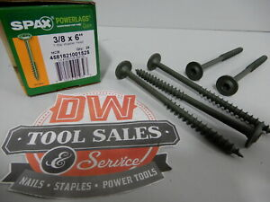 Spax Screws Made In Usa 3 8 X 6 Washer Head Star Drive Exterior