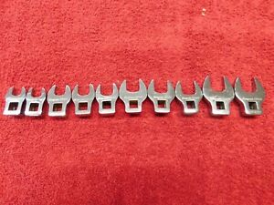 10 Pc 3 8 Drive Metric Open End Crowfoot Wrench Set 10 19 Mm 210fcoma