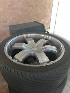 Rims And Tires 22 Set Of 4 Used Chrome
