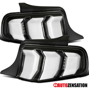 For 2010 2012 Ford Mustang Black Led Sequential Signal Tail Lights Lamps