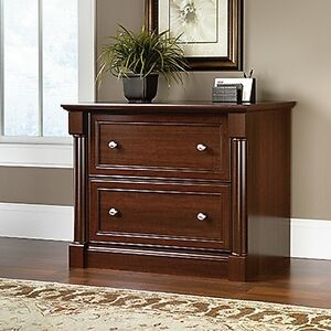 Sauder Palladia Lateral File Cherry Cabinet Select Wood 2 Drawer Home Office Org