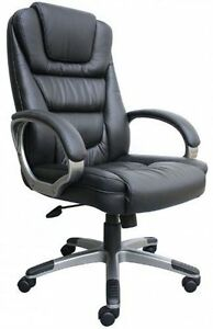 Boss ntr Executive Leatherplus Chair W Knee Tilt 26 5 w X 28 d X 45 48 5 h