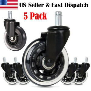 Office Chair Caster Wheels Replacement 3 5pcs Heavy Duty Safe For All Floors