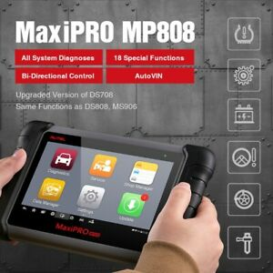 Autel Maxipro Mp808 Obd2 Scanner Diagnostic Reset Tool For Ford Bmw Benz Gm Vw