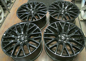 Ford Mustang 19 Inch Factory Original Oem Staggered Black Wheel Rims 10036 10038
