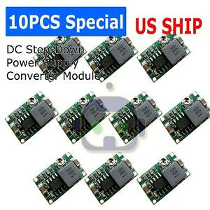 New 10pcs Mini360 3a Dc Voltage Step Down Power Converter Buck Module 5v 9v 12v