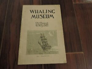 Whaling New Bedford Ma Exhibit Catalog 1926 Whales