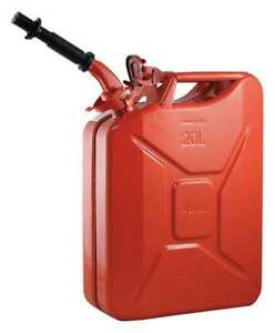 Wavian 2238c 20l 5 28 Gal Red Cold Rolled Steel Gas Can