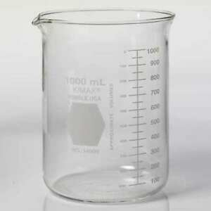Kimble Kimax 14000 1000 Beaker 1000ml glass 145mm H pk24