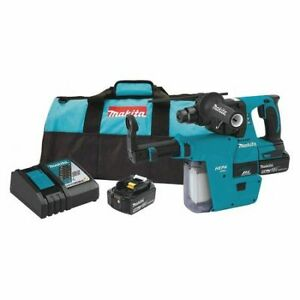Makita Xrh011tx 18v Lxt Lithium ion 5 0ah Brushless Cordless 1 Rotary Hammer