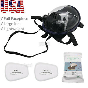 7pcs Full Face Gas Mask Full Face Respirator For Painting Spraying Welding Usa