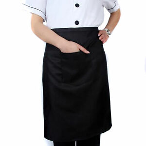 Dz 1 Black Waiter Waitress 1 Pocket Waist Aprons