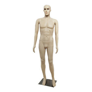 6 Ft Male Mannequin Make up Manikin Metal Stand Plastic Full Body Realistic