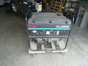 Onan 5000 Pro5000e Gas Electric Start Generator 120 240v