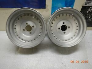 Pair 14x7 Centerline Wheels 4 Lug Sunbeam Capri Cortina Pinto Alpine Tiger 924