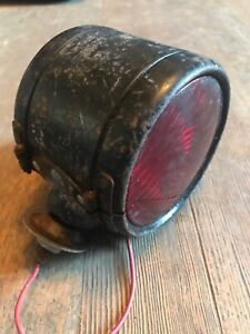 Yankee 918truck Turn Signal Light Red amber 4 3 8 Lens 40 s 50s Chevy Dodge Ford