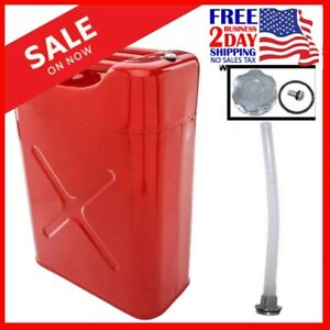 5 gallon Gas Can Metal Jerry Gasoline Container Tank Emergency Backup 20 Liter