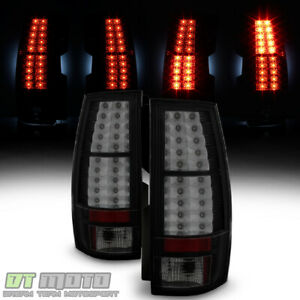 Black Smoke 2007 2014 Chevy Suburban Tahoe Gmc Yukon Xl Lumileds Led Tail Lights