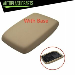 For 2008 2013 Toyota Highlander Leather Console Lid Armrest Beige Tan With Base