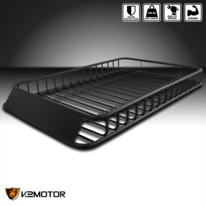 62 X39 Universal Roof Rack Luggage Hold Cargo Car Top Carrier Basket Suv Truck
