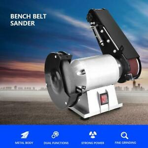 250w 110v Bench Grinder Belt Sander Combination Grinding Sanding Machine Usa