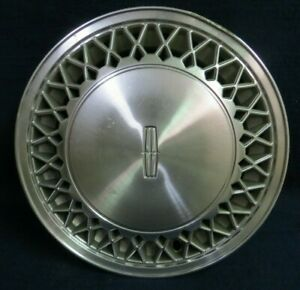 Lincoln Town Car 1988 15 Lace Design Machined Metal Wheel Cover 1 Oem