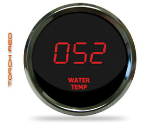 Intellitronix Ms9113r Led Digital Water Temp Gauge 2 1 16 50 To 350 Chrome Red