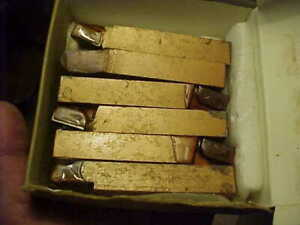 10 Nos Carmet Br 10 720 Carbide Tipped 5 8 Square Lathe Tool Bit Lot Usa