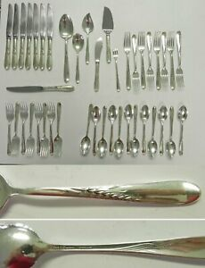 Silver Wheat By Reed Barton Sterling Silver Flatware Set 8 Service 42 Pieces