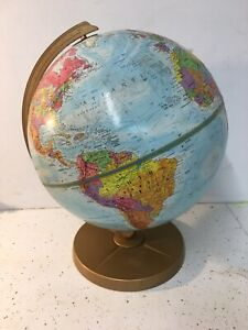 Vintage Replogle Rasied Relief Globe World Nation Serves