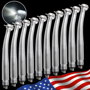 10 dental E generator Led Fiber Optic Large Torque Handpiece Push Turbine 4h Sdm