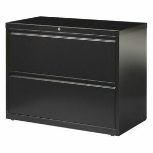 Hirsh 17457 42 Wide Hl8000 Lateral File Cabinet 2 Drawer Black