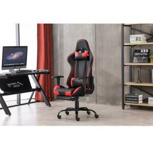 Gaming Chair Racing Chair Office Chair Ergonomic High back Chair W Footrest