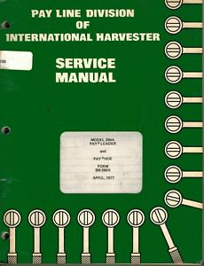 International Vintage 260a Payloader Payhoe Tractor Service Manual Sm 260a