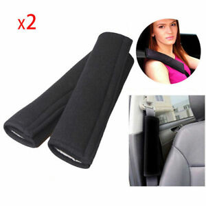 1pair Car Safety Seat Belt Shoulder Pads Cover Comfortable Cushion Harness Black