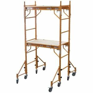 Rolling Scaffold Tower Scaffolding Platform Ladder Painting Heavy Duty Mobile