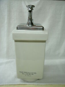 Soda Fountain Chrome Syrup Dispenser a4661 choc fischman Co vtg original