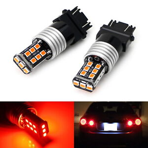 Strobe Flashing Red 3157 3057 3357 Led Replacement Bulbs For Brake Tail Lights