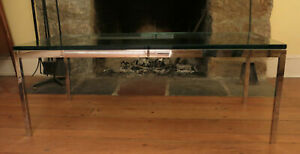 Authentic Original Florence Knoll Chrome Glass Coffee Table