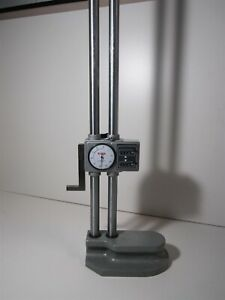 Spi 12 Height Gage W Large Dial 0 001 Accuracy Double Digital Counter