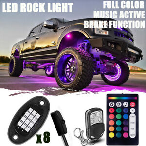 Rgbw Rock Lights Led Pods For Trucks Jeeps Offroad Vehicles With Remote Control