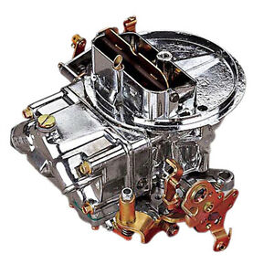 Holley 0 4412s Carburetor 500 Cfm Performance 2 Barrel Manual Choke Polished