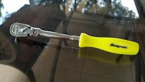 New Snap On 1 4 Dr Dual 80 Yellow Long Hard Handle Flex Head Ratchet Thld72dp