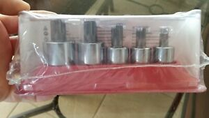 New Sealed Snap On Metric Triple Square Stubby Driver Socket Bit Set 305stsmse