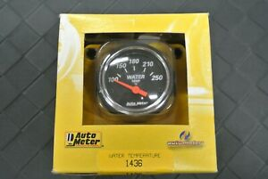 New Auto Meter 2 1 16 Water Temperature Gauge 1436 Sender 3 8 1 2 Fittings