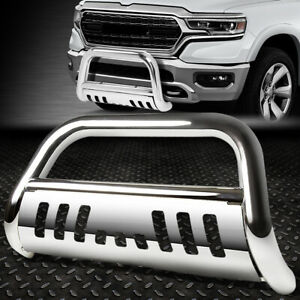 For 2019 Ram Truck 1500 Stainless Steel 3 Bull Bar Bumper Grill Push Brush Guard